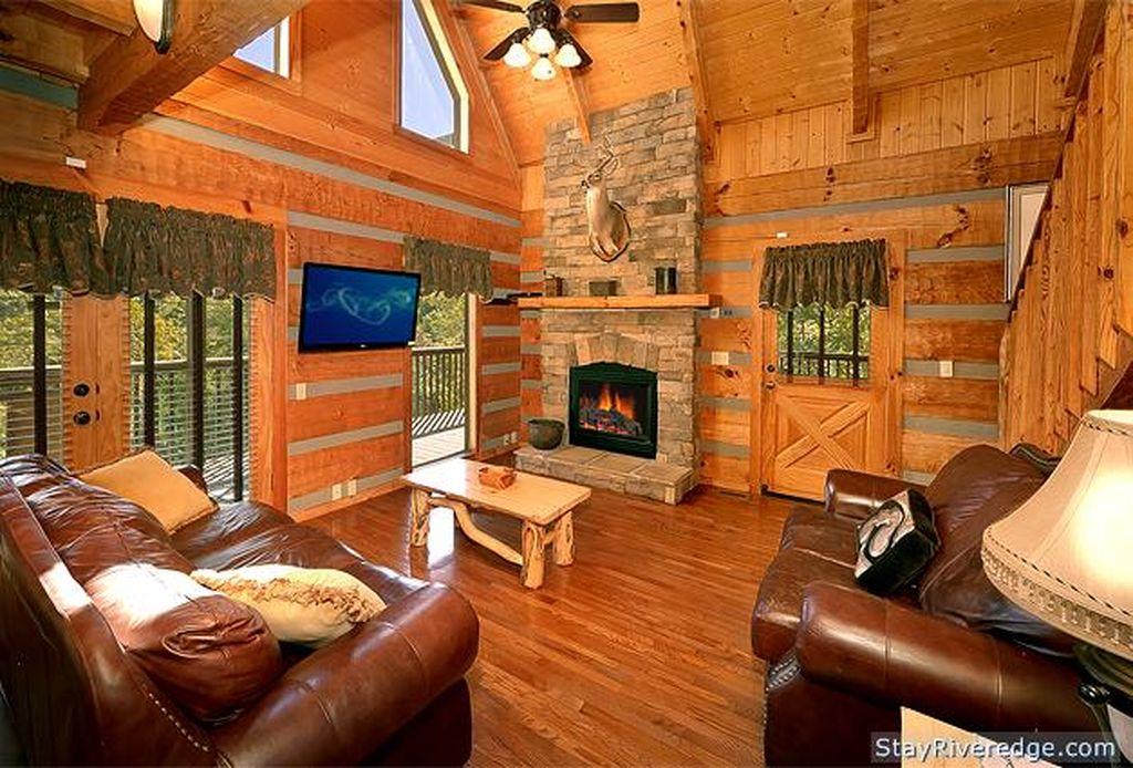 Living room view of Cabin