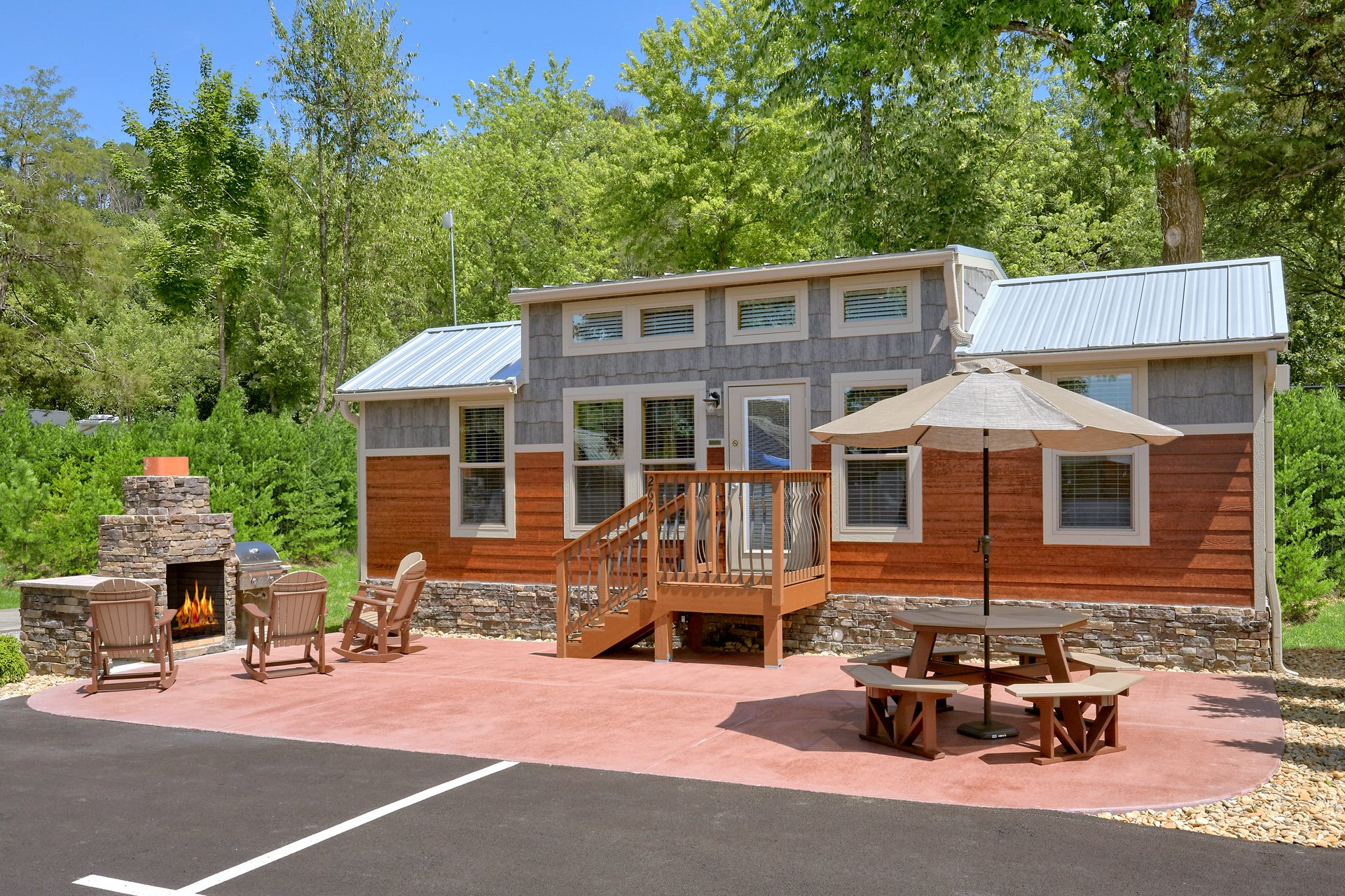 Take a look at our camping cabins located in our RV Park in Pigeon Forge, TN